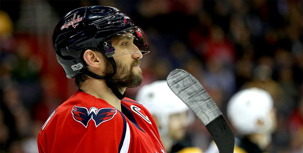 Bruins-Capitals pits Boston against Alex Ovechkin once again. (Photo by Patrick Smith/Getty Images)