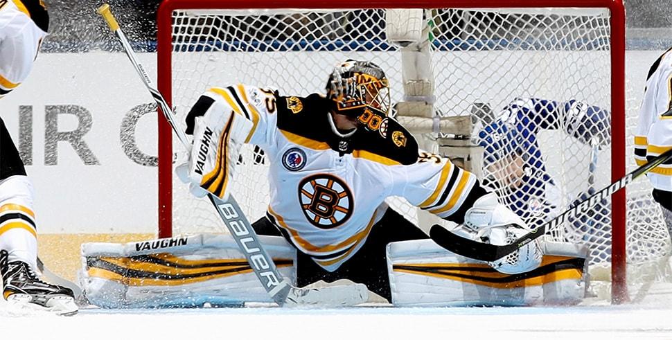 Anton Khudobin of the Boston Bruins (Photo by Bruce Bennett/Getty Images)