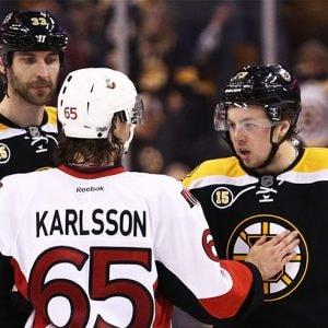 Erik Karlsson Charlie Mcavoy Zdeno Chara Ottawa Senators V Boston Bruins Game Six