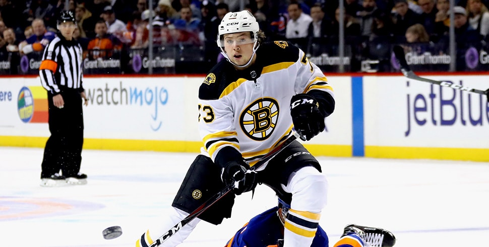 Bruins-Devils: Charlie McAvoy to sit out Tuesday, two more weeks (Photo by Bruce Bennett/Getty Images)