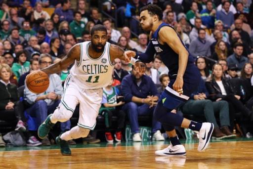 3816edb6daec Kyrie Irving Nears Triple-Double In Celtics 91-84 Win Over Timberwolves