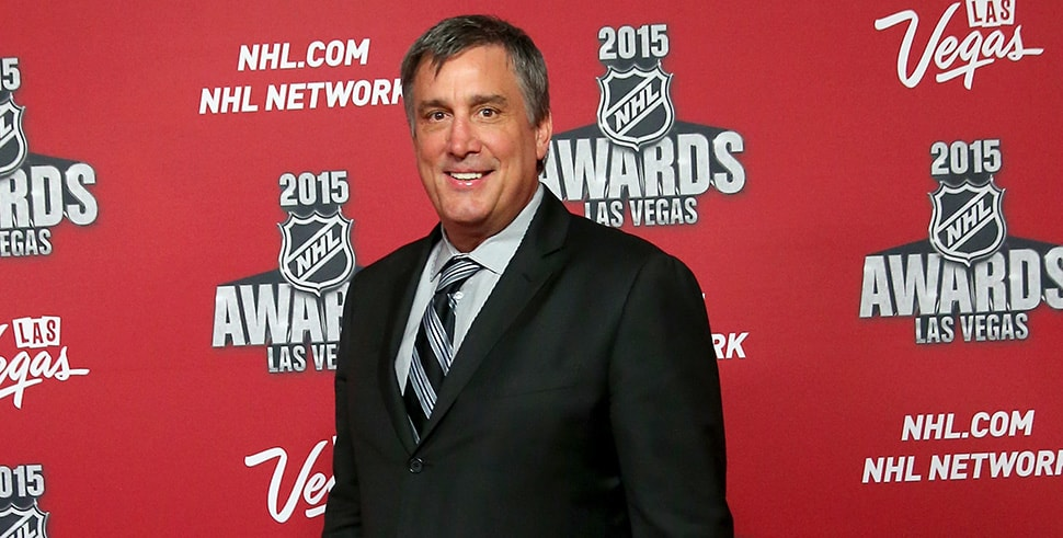 Cam Neely arrives on the red carpet before the 2015 NHL Awards show. (Photo by Bruce Bennett/Getty Images)
