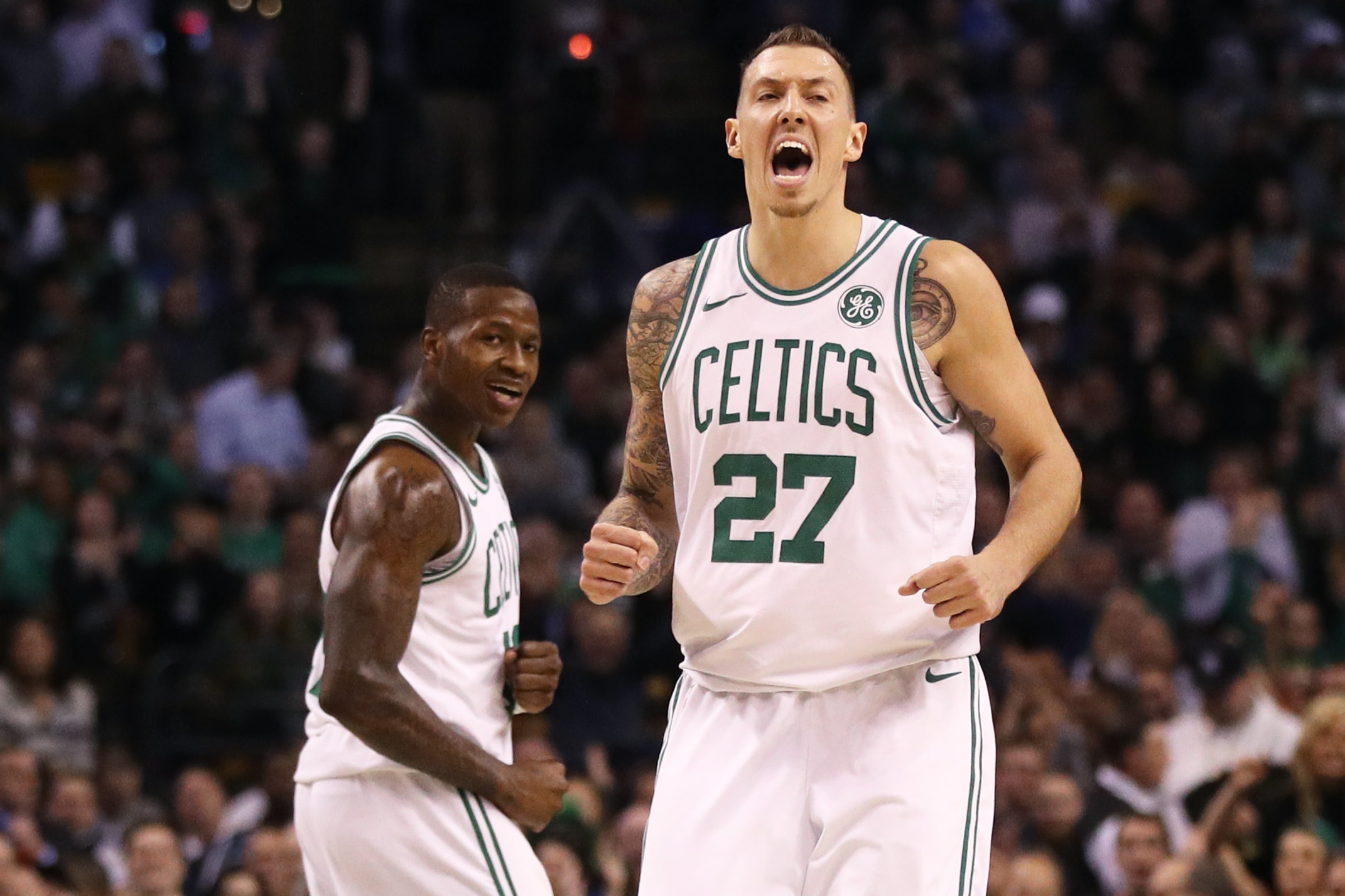 get cheap 8ddf2 e46e0 Celtics re-sign Daniel Theis to two-year, $10 million deal