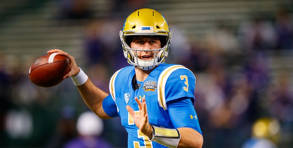 Dec 26, 2017, Phoenix, AZ, USA: UCLA Bruins quarterback Josh Rosen prior to the game against the Kansas State Wildcats in the 2017 Cactus Bowl at Chase Field. (Photo Credit: Mark J. Rebilas-USA TODAY Sports)