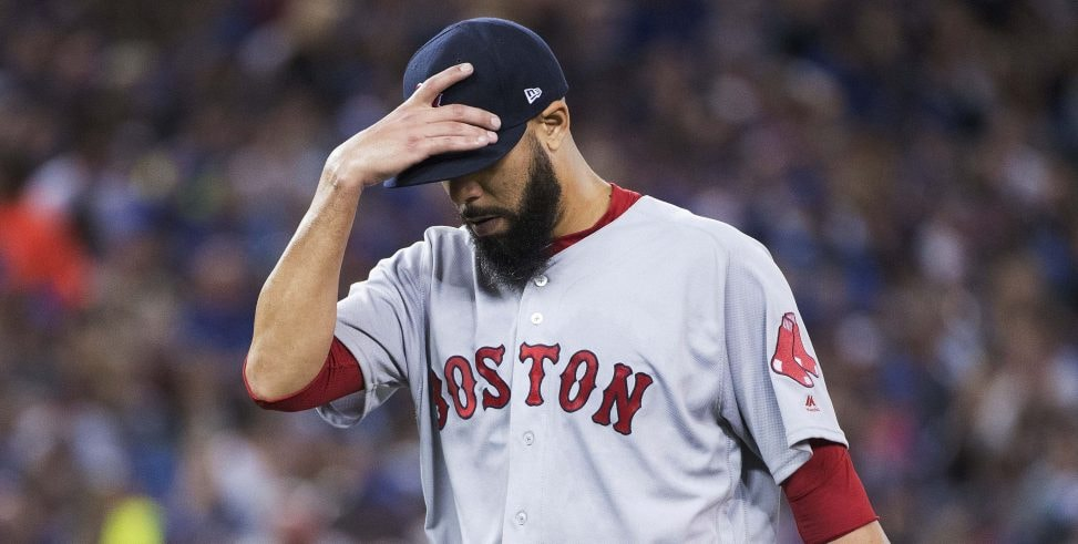 May 12, 2018, Toronto, Ontario, CAN: Boston Red Sox starting pitcher David Price walks off the field after being relieved during the sixth inning against the Toronto Blue Jays at Rogers Centre. (Photo Credit: Nick Turchiaro-USA TODAY Sports)