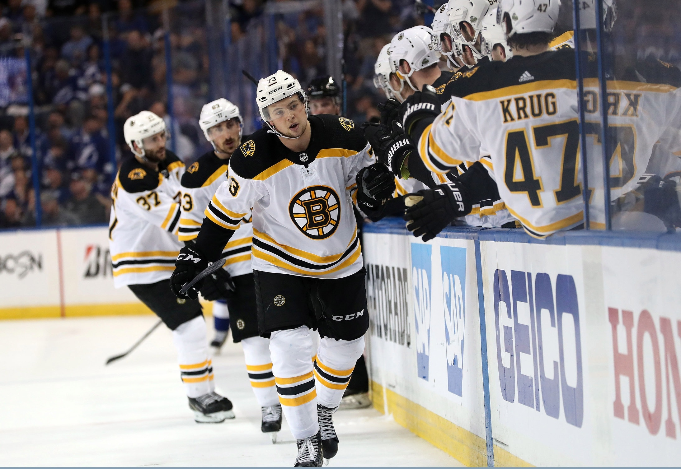 Bruins shuffle lines, activate Charlie McAvoy ahead of tilt vs. Lightning