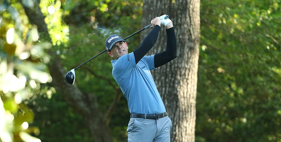 Apr 5, 2018; Augusta, GA, USA; Brendan Steele hits his tee shot on the 2nd hole during the first round of the Masters golf tournament at Augusta National Golf Club. (Photo Credit: Rob Schumacher-USA TODAY Sports)