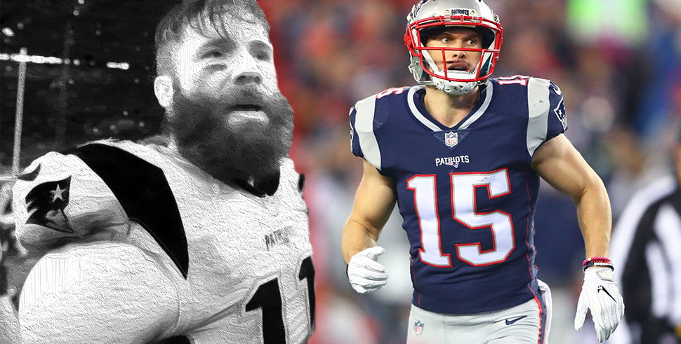 super popular 5ac98 4b039 Julian Edelman with black and white effects and Chris Hogan ...