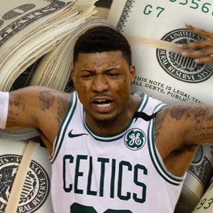 Boston Celtics point guard Marcus Smart (Photo credits: Greg M. Cooper, USA Today Sports/Pictures of Money, Flickr)