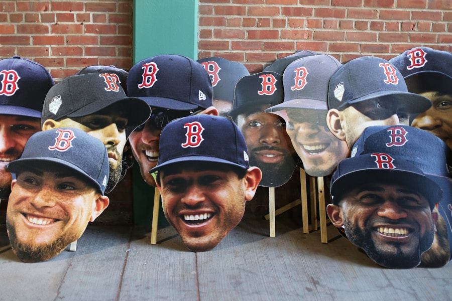 BOSTON, MA - OCTOBER 31:  Cutouts of the players heads sit on a wall inside of Fenway Park before the Boston Red Sox 2018 World Series parade on October 31, 2018 in Boston, Massachusetts. (Photo by Adam Glanzman/Getty Images)