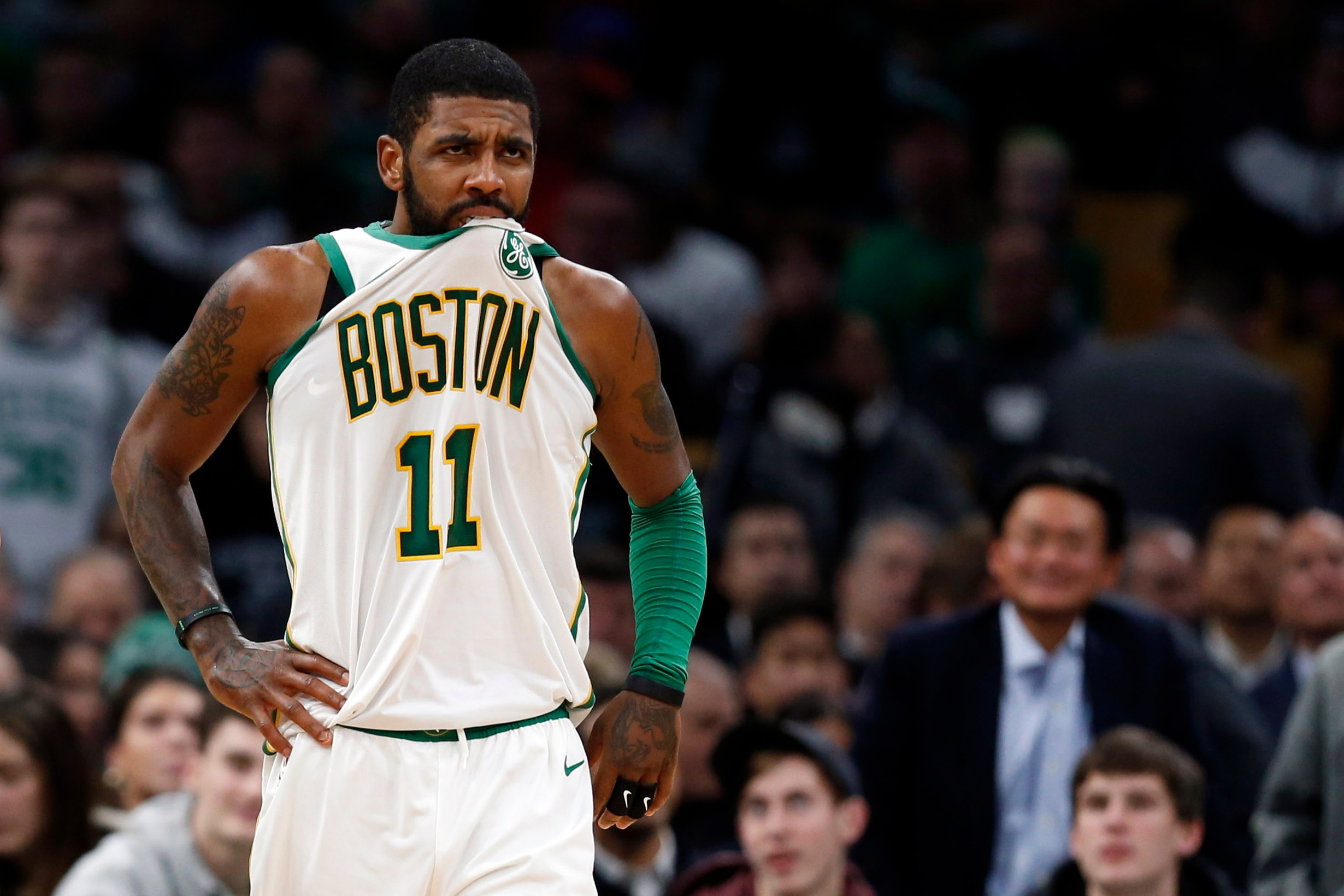 the latest 2e0b2 b4ede Ainge has 'no problem' with Kyrie Irving playing in NBA All ...