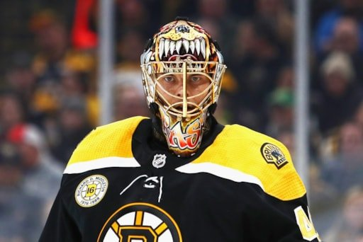 031680dba A look at Tuukka Rask s fantastic mask for 2019 Winter Classic