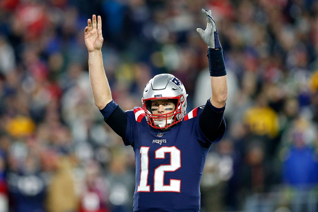 Nov 4, 2018, Foxborough, MA: New England Patriots quarterback Tom Brady reacts during the fourth quarter against the Green Bay Packers at Gillette Stadium. (Greg M. Cooper-USA TODAY Sports)