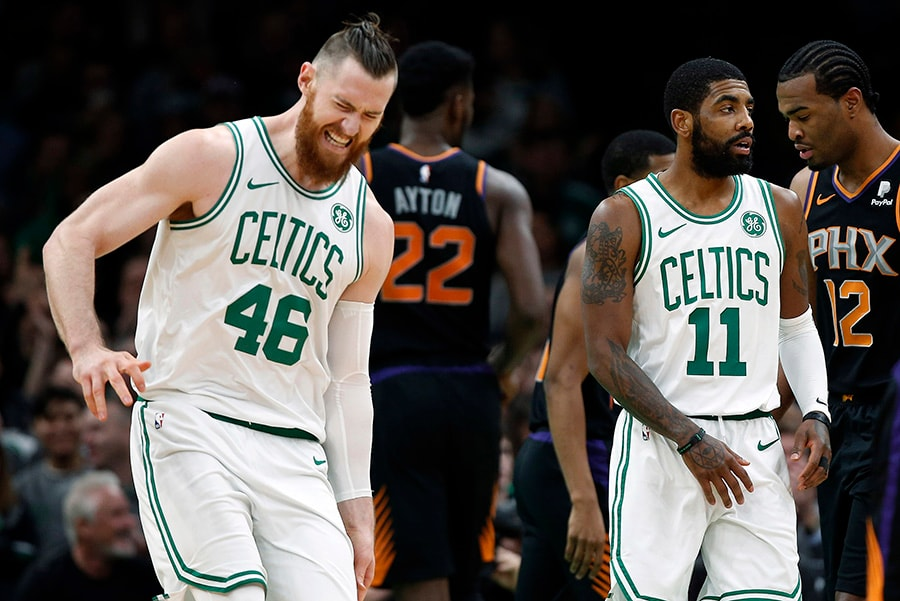 lowest price 3f5e0 ce980 Aron Baynes has successful surgery on broken hand, will miss ...