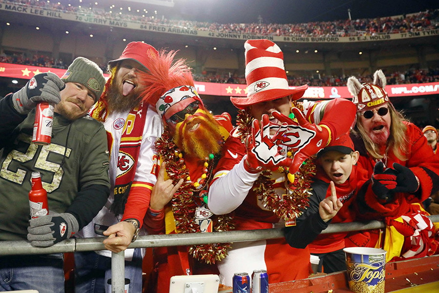 Dec 13, 2018; Kansas City, MO: Kansas City Chiefs fans during the second half against the Los Angeles Chargers at Arrowhead Stadium. (Jay Biggerstaff-USA TODAY Sports)