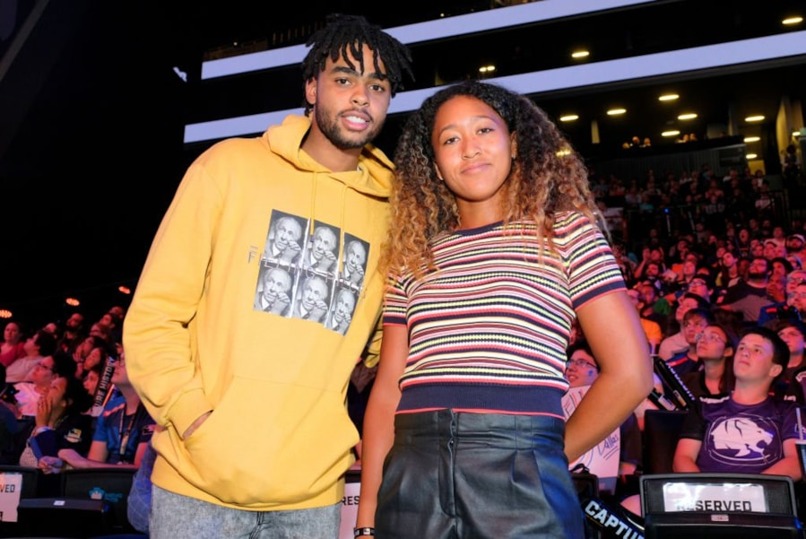 NEW YORK, NY - JULY 27:  D'Angelo Russell and Naomi Osaka attend Overwatch League Grand Finals - Day 1 at Barclays Center on July 27, 2018 in New York City.  (Photo by Matthew Eisman/Getty Images for Blizzard Entertainment )