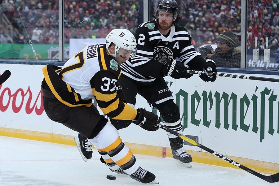 low priced 76511 1c8ae Patrice Bergeron - NHL: Winter Classic-Boston Bruins at ...