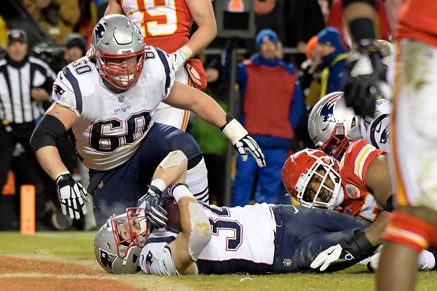 rex burkhead goes from scapegoat to hero in patriots afc