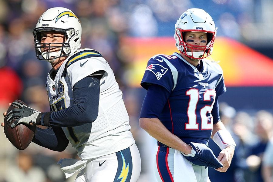 Philip Rivers and Tom Brady (Patrick Smith/Maddie Meyer/Getty Images)