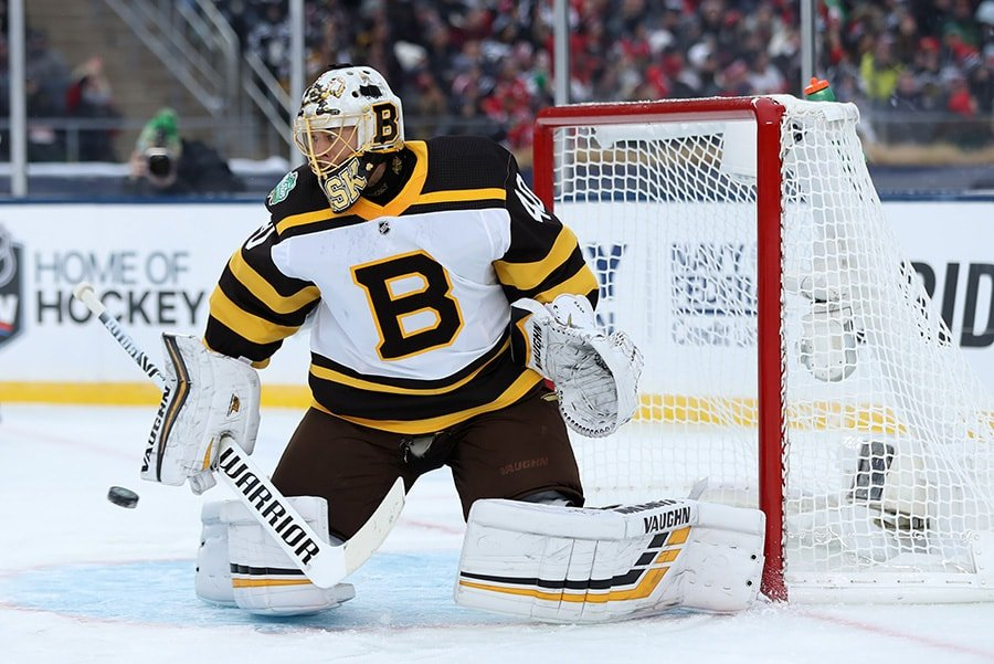bcd98c94c Tuukka Rask delivers with 36 saves in Bruins  Winter Classic win