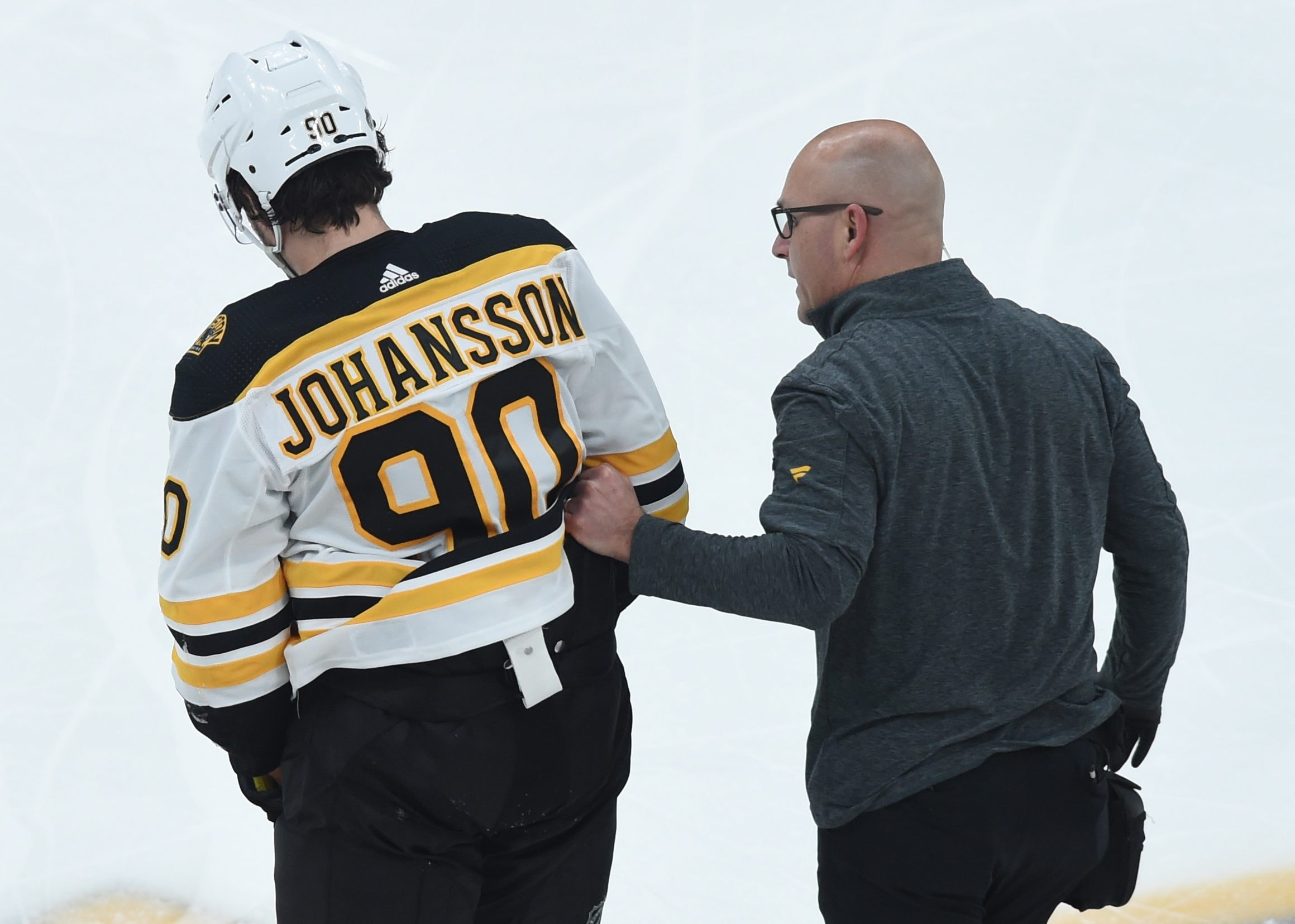 Bruins say Marcus Johansson injury may not be as bad as feared