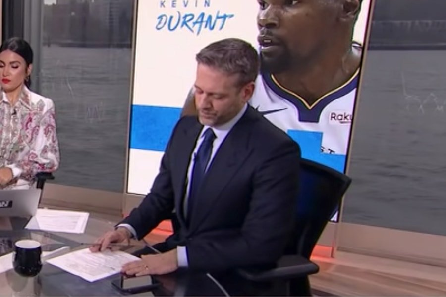 Max Kellerman lets out a noise that closely resembles his