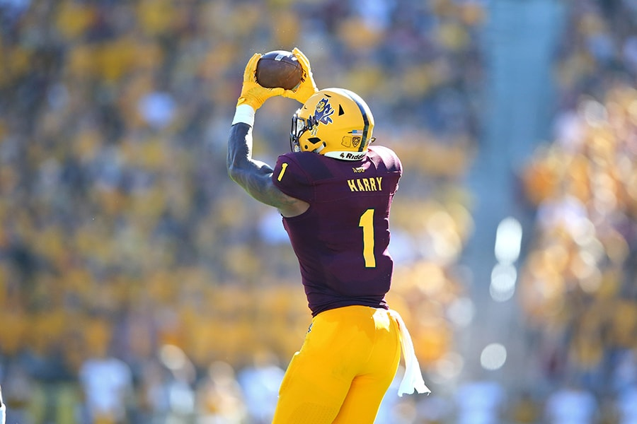 Nov 3, 2018; Tempe, AZ: Arizona State Sun Devils wide receiver N'Keal Harry against the Utah Utes at Sun Devil Stadium. (Mark J. Rebilas-USA TODAY Sports)