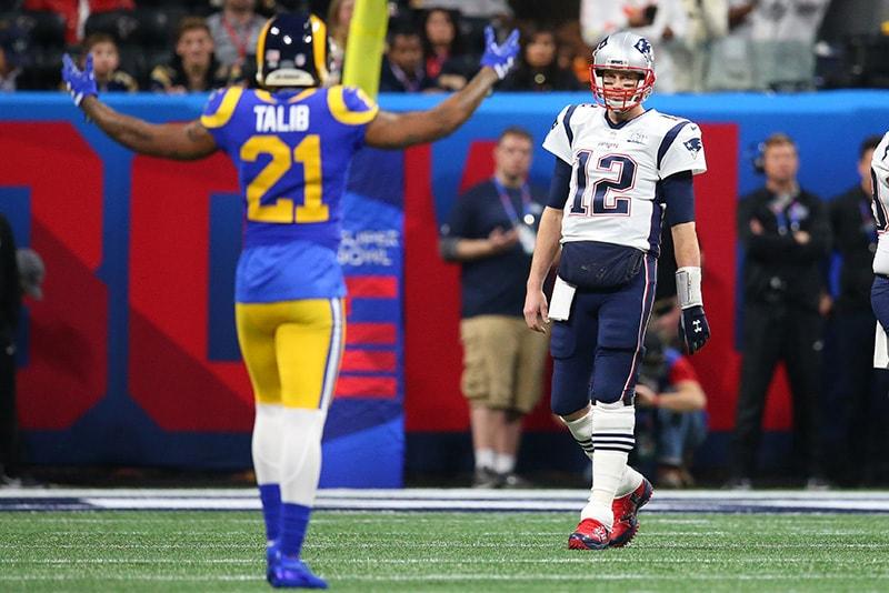 5f94297c4ff7cb Feb 3, 2019; Atlanta, GA: New England Patriots quarterback Tom Brady looks