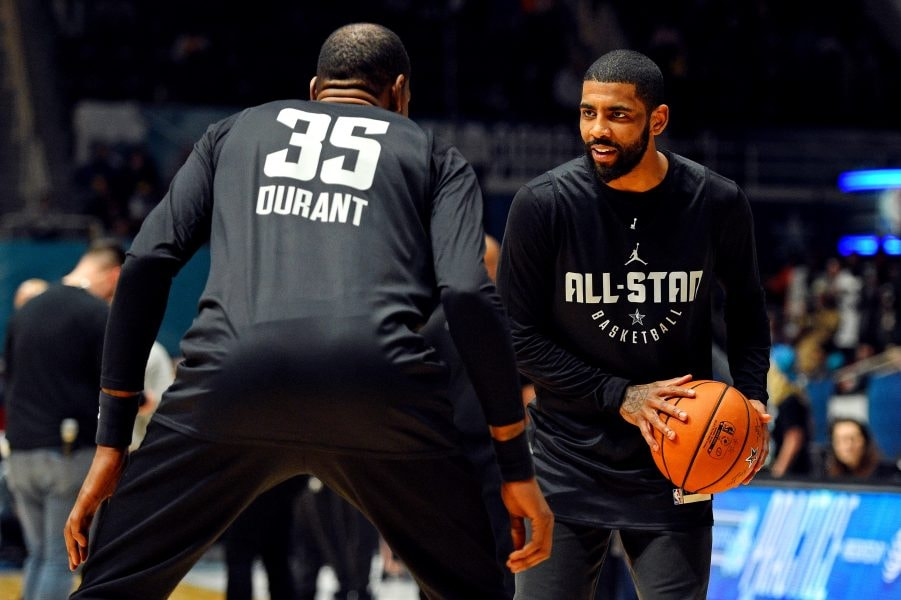 Report: Kyrie Irving and Kevin Durant have met twice in recent weeks to discuss joining forces