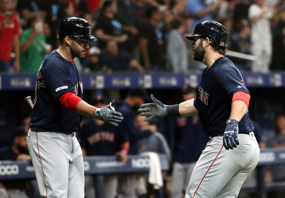 Red Sox top Rays 6-4 on late home runs