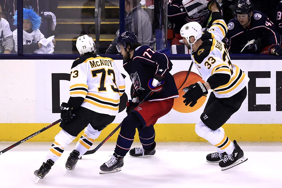 Charlie McAvoy 'disappointed' he won't be playing in Game 1 of ECF