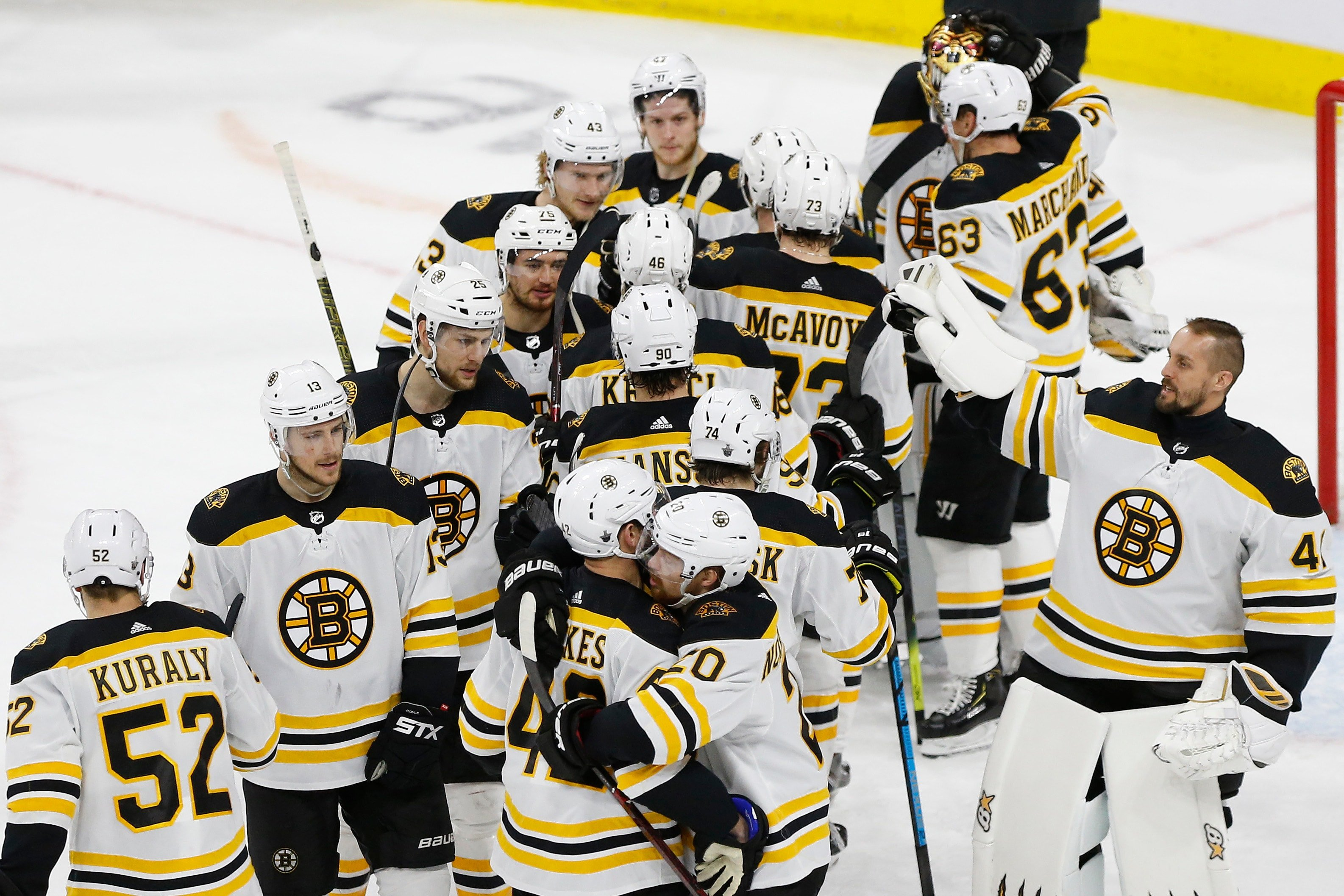 Torey Krug All Smiles After Bruins' Game 4 Win Vs. Hurricanes