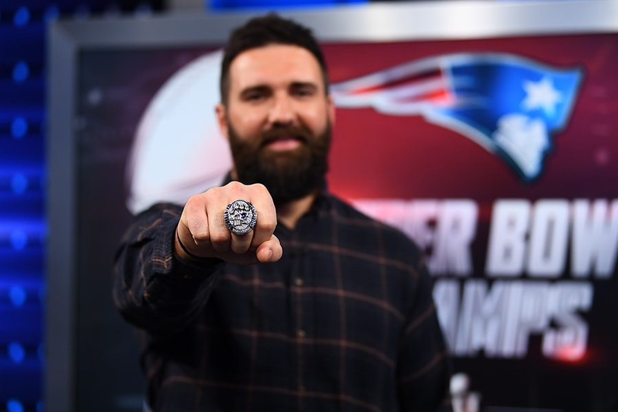 Bristol, CT - February 8, 2017 - Studio W: Rob Ninkovich's Super Bowl ring on the set of NFL Insiders (Photo by Joe Faraoni/ESPN Images)
