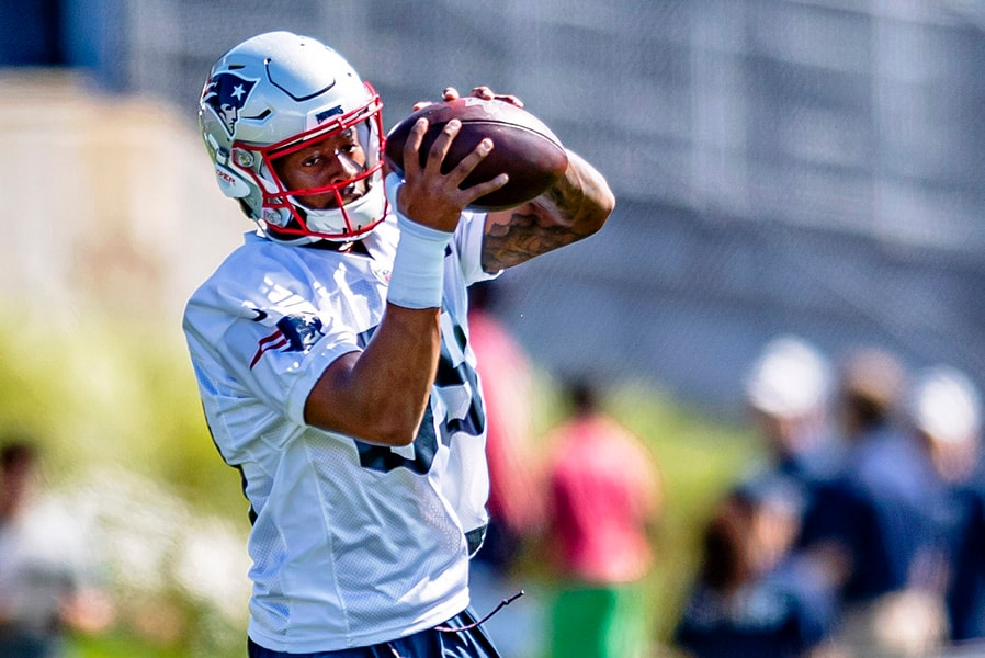 Patriots receiver Jakobi Meyers could be in line for increased opportunities against the Raiders. (Ed Wolfstein-USA TODAY Sports)