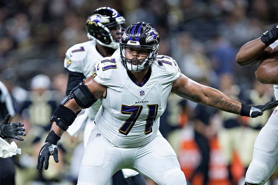 Patriots trade for Ravens OL Jermaine Eluemunor