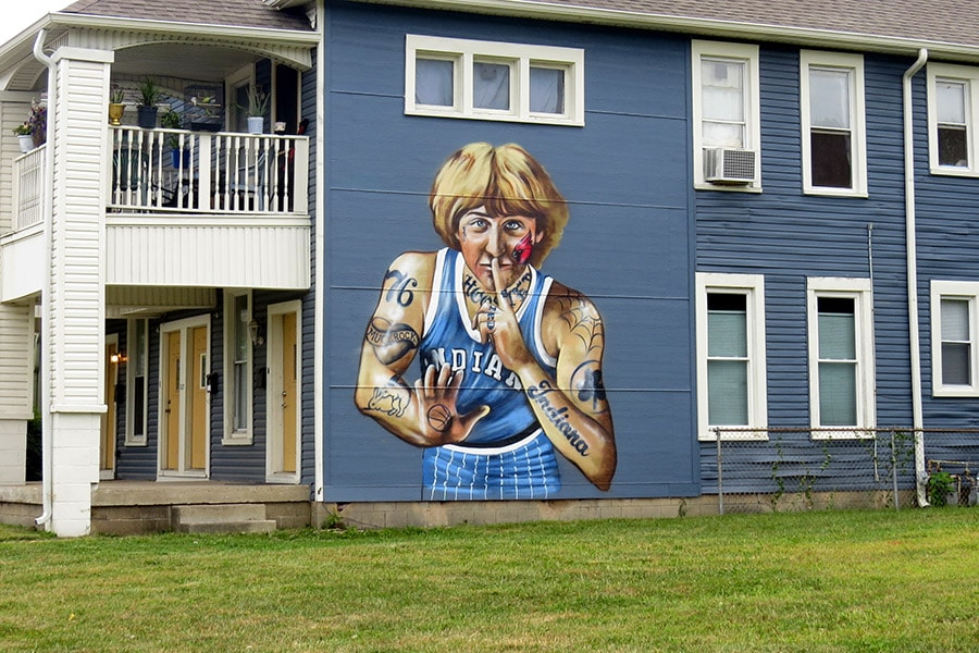 Larry Bird angered by his tattooed portrayal on IN mural