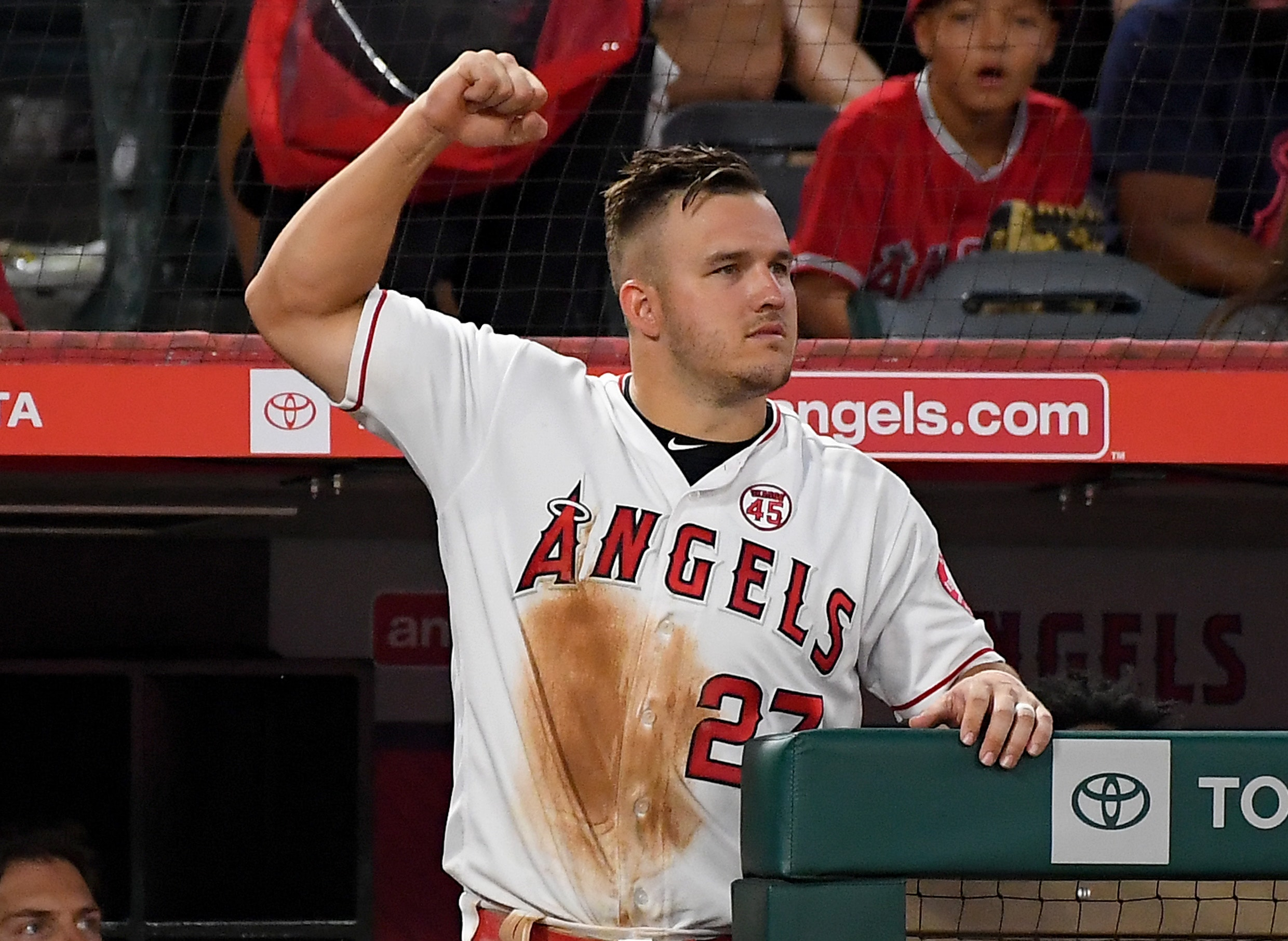 Angels outfielder Mike Trout entered the 2020 season with a $37.7 million salary, highest in MLB. (Jayne Kamin-Oncea-USA TODAY Sports)