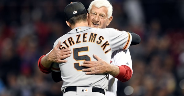 Red Sox fall 11-3, Yaz throws out first pitch to grandson