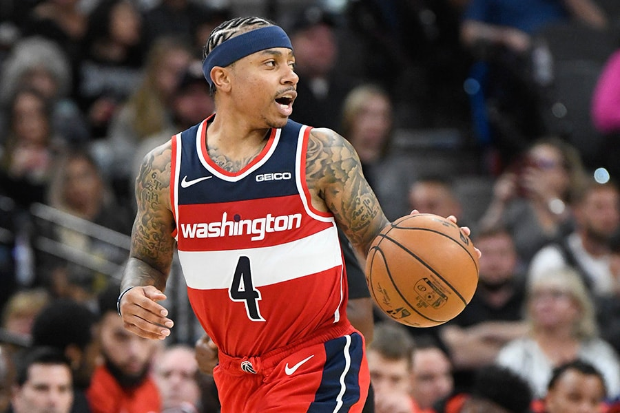 Oct 26, 2019; San Antonio, TX: Washington Wizards guard Isaiah Thomas dribbles up court during the third quarter against the San Antonio Spurs at AT&T Center. (Scott Wachter-USA TODAY Sports)
