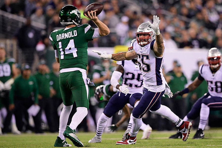 Seeing Ghosts: Patriots defense terrorizes Darnold, Jets in 33-0 laugher