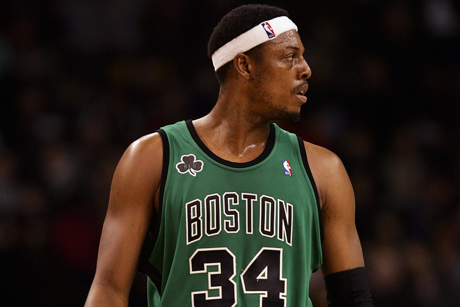 Paul Pierce of the Boston Celtics looks on during a game against the New York Knicks at the TD Banknorth Garden on November 24, 2006 in Boston, Massachusetts. The New York Knicks defeated the Boston Celtics 101-77. (Photo by Elsa/Getty Images)