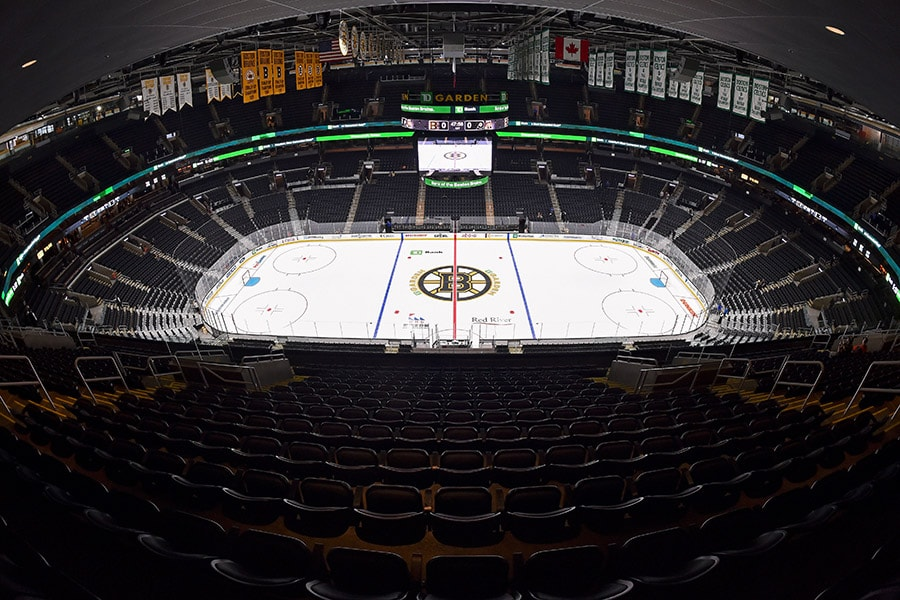 Sep 23, 2019; Boston, MA: A general view of the TD Garden arena before a preseason game between the Boston Bruins and the Philadelphia Flyers. (Brian Fluharty-USA TODAY Sports)