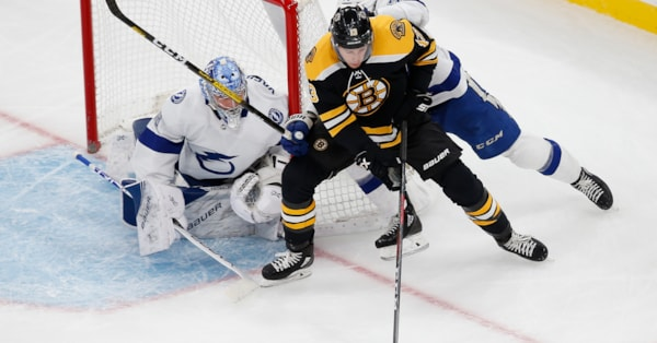 Bruins earn point, but fall to Bolts in shootout