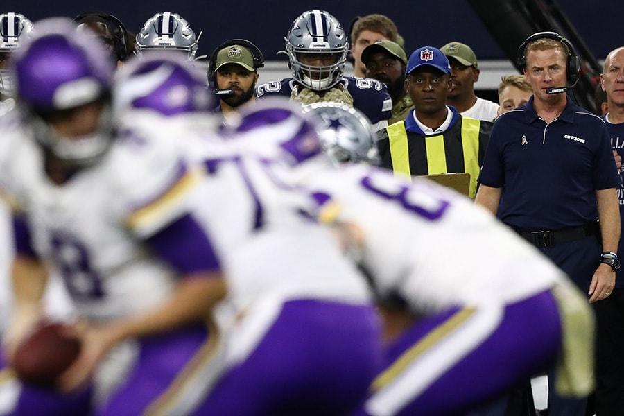 Head coach Jason Garrett of the Dallas Cowboys at AT&T Stadium on November 10, 2019 in Arlington, Texas. (Photo by Ronald Martinez/Getty Images)