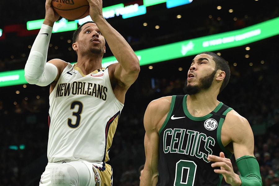 Tatum scores 41, Celtics get on track in 140-105 blowout win over Pelicans