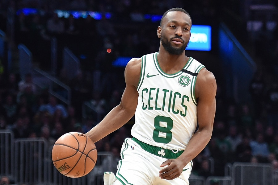All eyes on Kemba Walker and his knee as the Celtics get back to work. (Bob DeChiara-USA TODAY Sports)