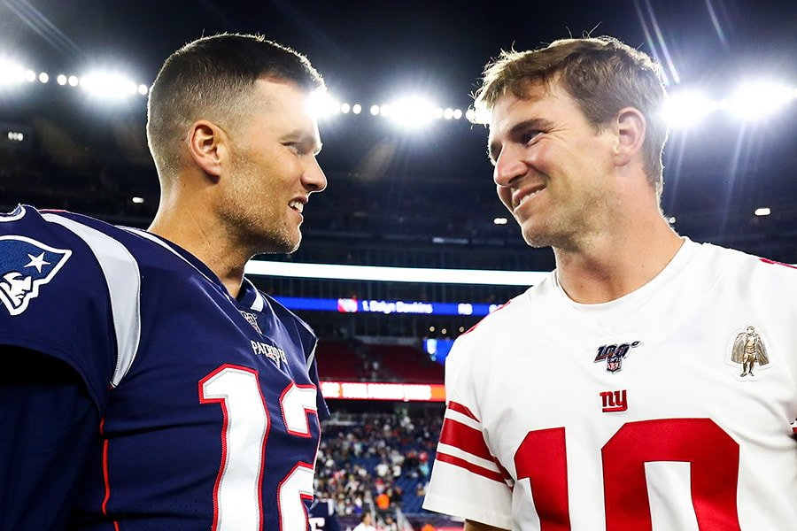 Tom Brady congratulates Eli Manning on his retirement, but not for you-know-what