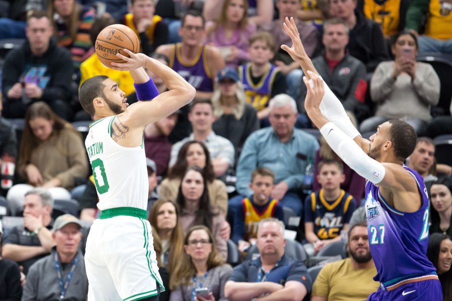 Jayson Tatum has grown two inches in height, according to Brad Stevens. (Russell Isabella-USA TODAY)
