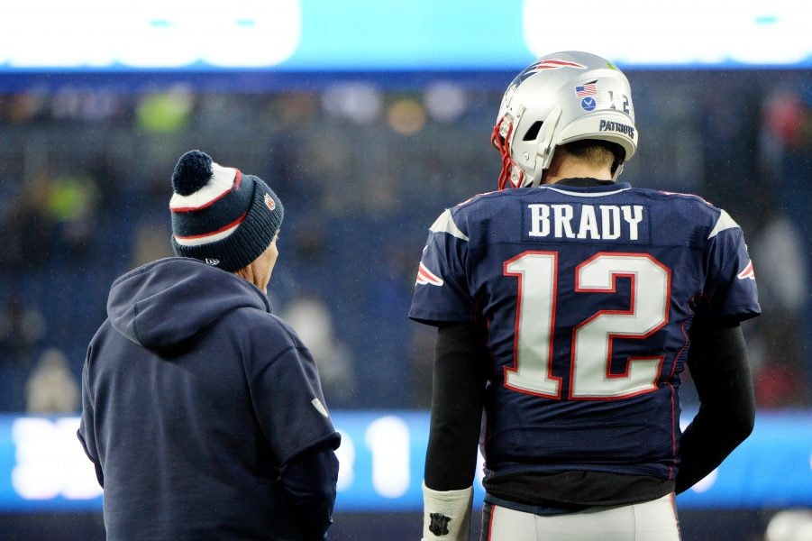 Bill Belichick and Tom Brady had a superb record together in part because they won close games better than anyone. (Photo by Kathryn Riley/Getty Images)