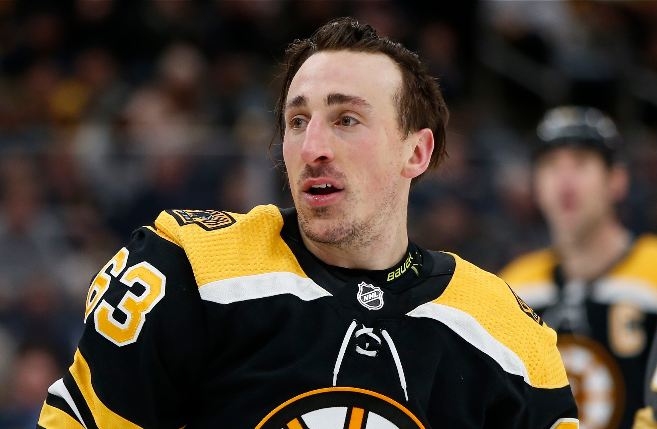 Brad Marchand told his Instagram followers how much he can't wait to get back to the NHL playoffs. (Greg M. Cooper-USA TODAY Sports)